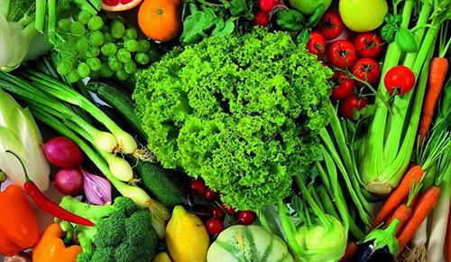 Большую часть меню должны составлять овощи и фрукты